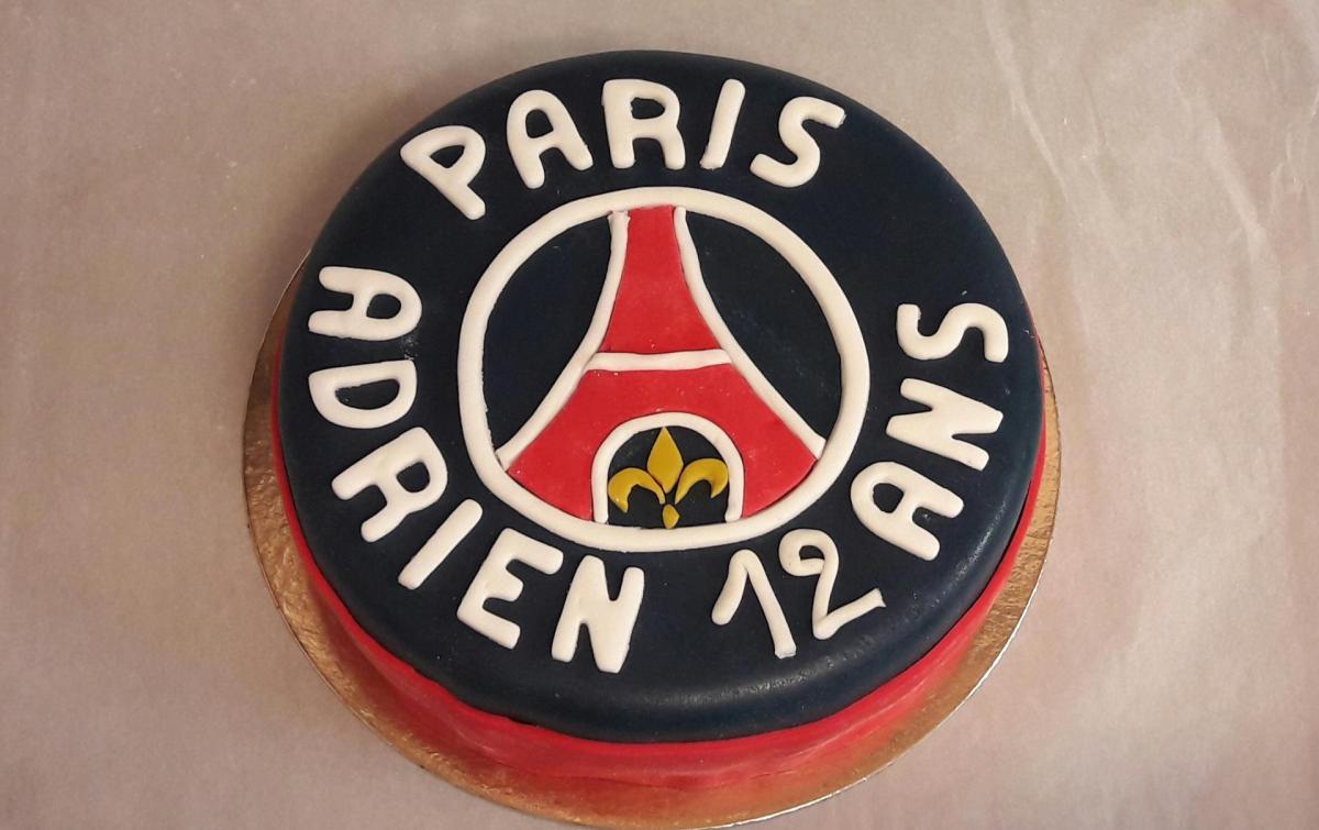 Gâteau pâte à sucre PSG