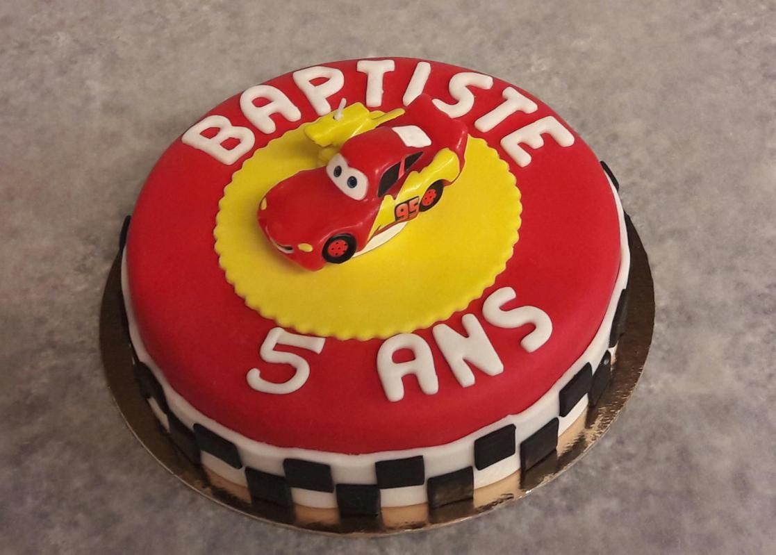 Gâteau pâte à sucre Cars