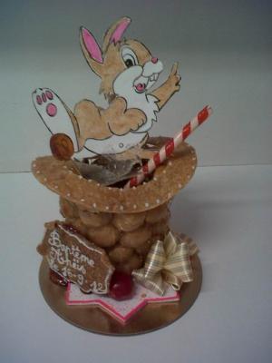 Anniversaire d'enfant pâtisserie oise chapeau lapin