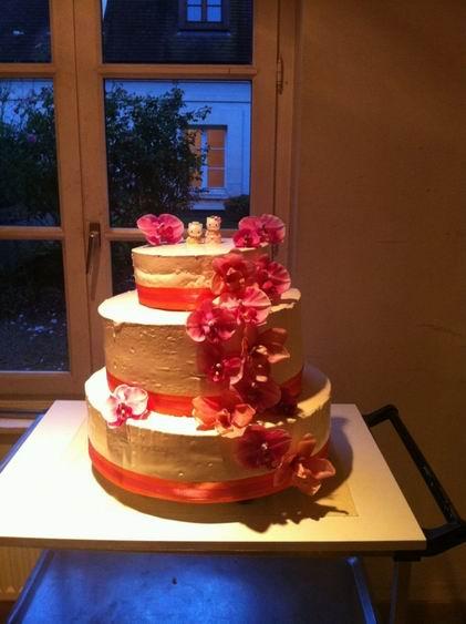 framboisier façon wedding cake pâtisserie Senlis 60